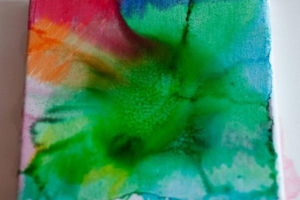Otroško ustvarjanje: akvareli na platnu