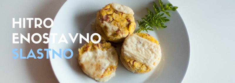 Recept polentna s pršutom in sirom