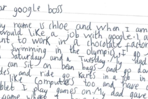 7 letnica zaprosila Google za službo in prejela osebni odgovor direktorja