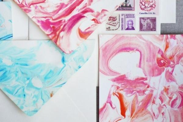 Izdelajte svoj marmorirani papir (DIY)