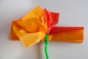 DIY svilene rožice