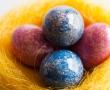 Izdelava velikonočne košarice za čokoladna jajčka