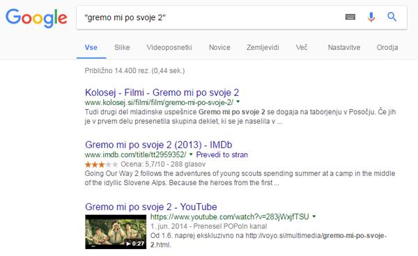 Google narekovaji
