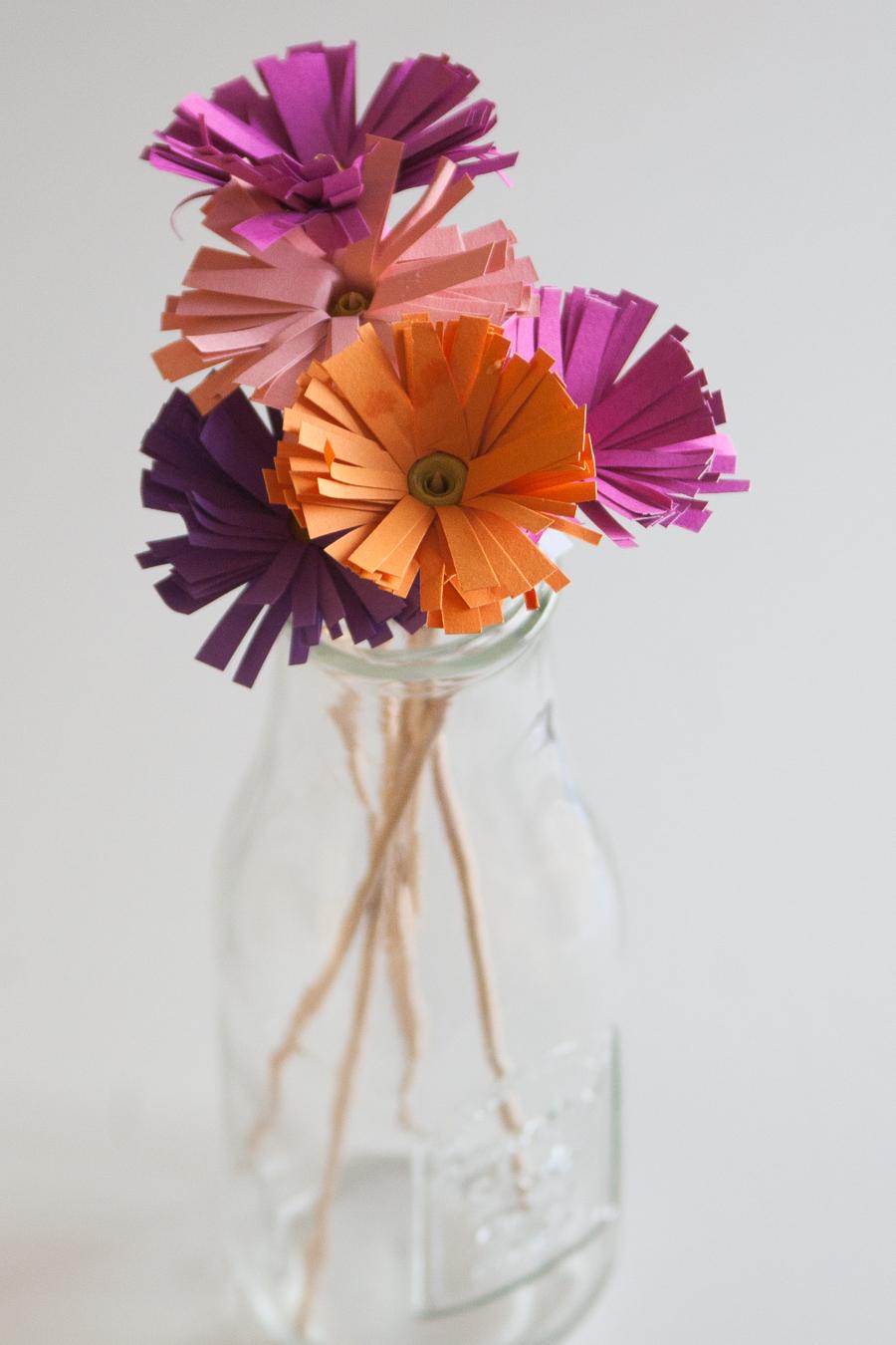 šopek rožic iz papirja