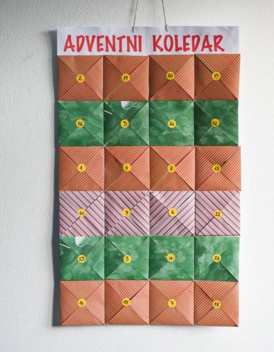 Adventni koledar z aktivnostmi za vso družino