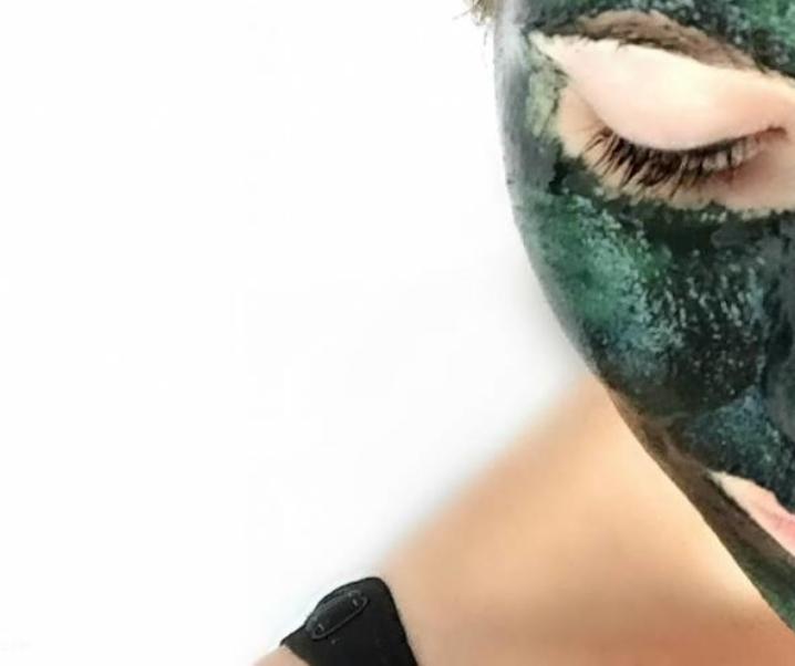 Maska s spirulino za obraz brez gubic