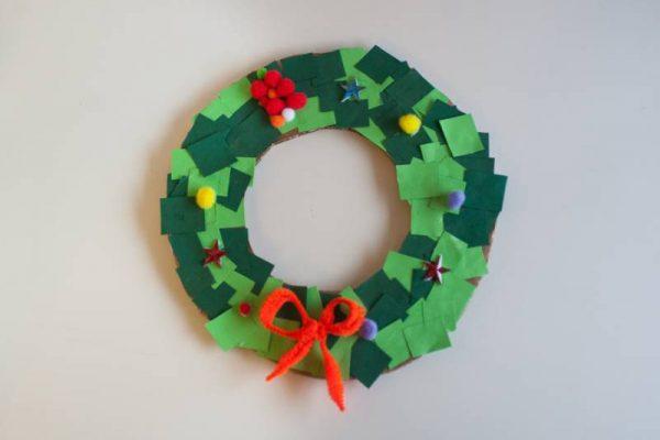Adventni venček za otroke DIY