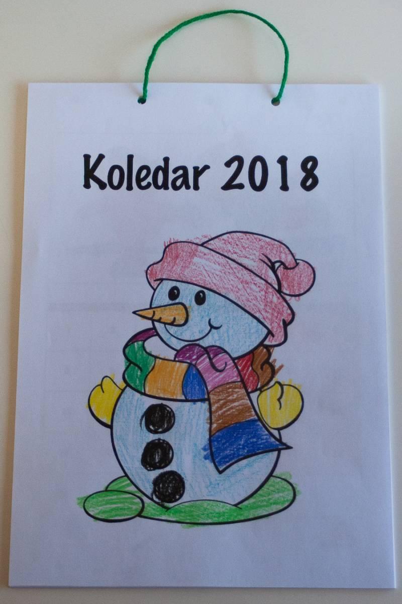 Otroški koledar pobarvanka