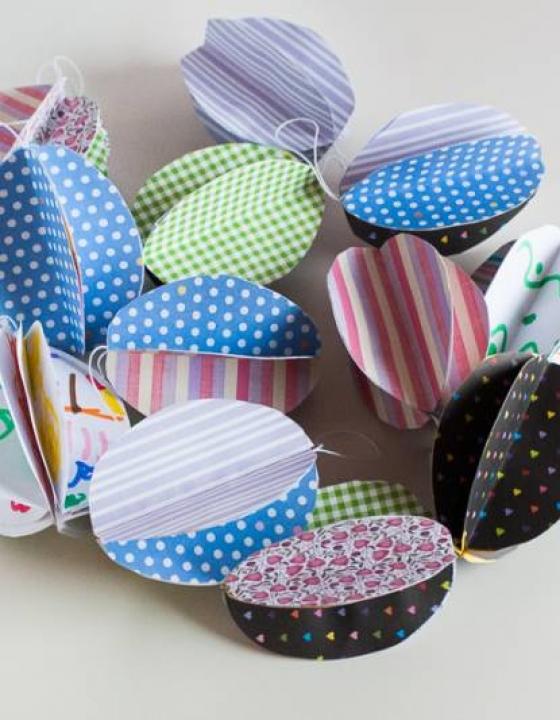 Pirhi iz papirja – velikonočno ustvarjanje za najmlajše