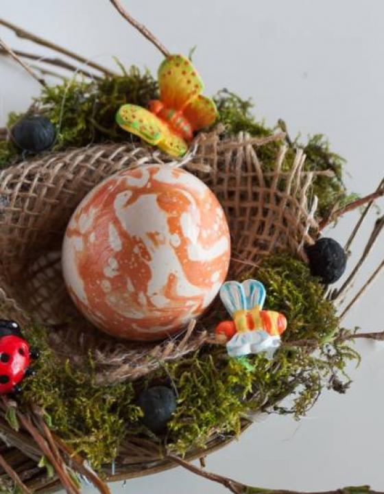 Ptičje gnezdo – DIY dekoracija za veliko noč