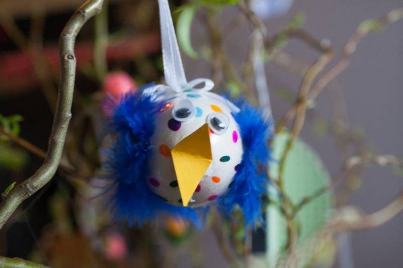 Velikonočna okrasitev in ptički