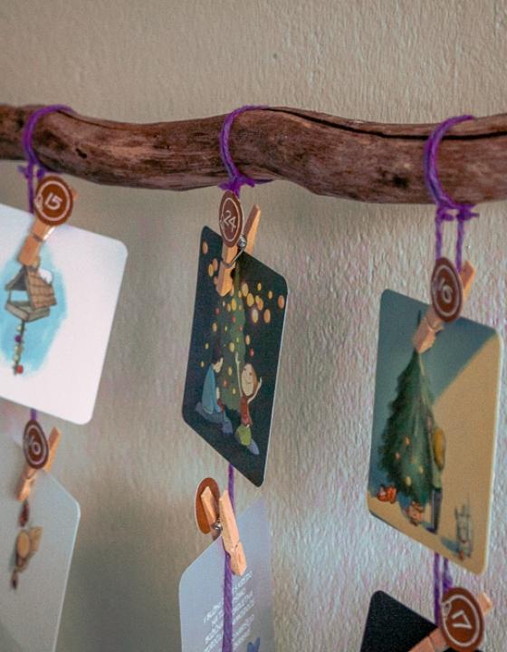 """Kartice """"Zimske iskrice"""" in izdelava adventnega koledarja"""
