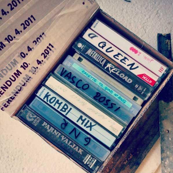 Xenijci-snemanje glasbe na kasete