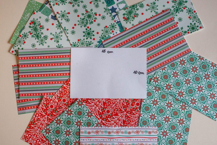 Papir narežemo na 10x15 cm velike pravokotnike