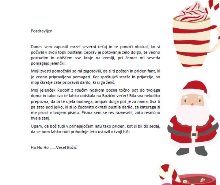 Božičkovo pismo – ali kako razveseliti otroka na božični dan